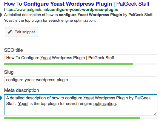 Configure Yoast WordPress Plugin After