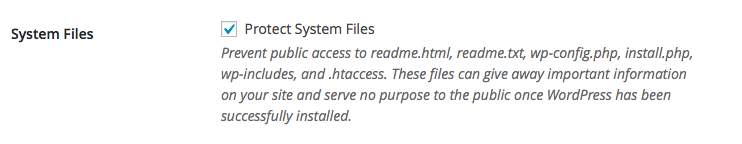 Protect system files