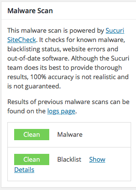 iTheme Security Malware Scan