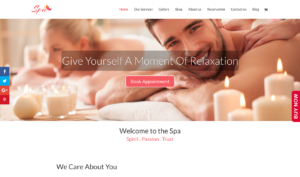 Spa Business Website